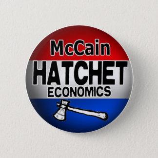 hatchet economics 2 inch round button