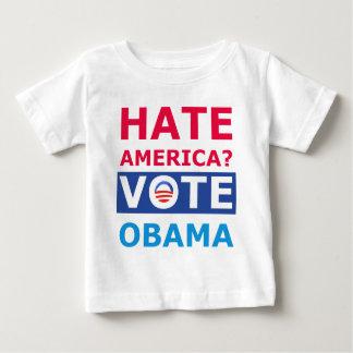 Hate America? Vote Obama (Anti Obama) Baby T-Shirt