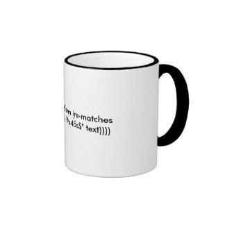 Hate Clojure, unit testing and RegExes? Ringer Coffee Mug
