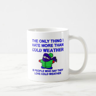 Hate Cold Weather Funny Mug