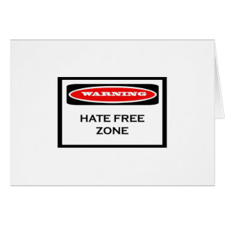 Hate Free Zone Note Cards