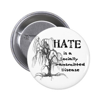 Hate is an STD 2 Inch Round Button