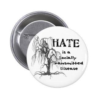 Hate is an STD 2 Inch Round Button