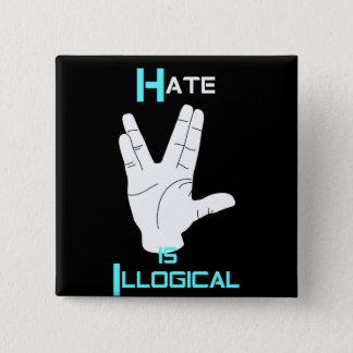 Hate is Illogical Equality Button