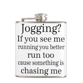 Hate Jogging Quote Flasks