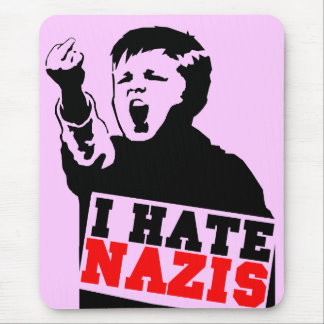 hate nazis mouse pad