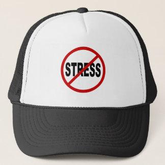 Hate Stress/No Stress Allowed Sign Trucker Hat