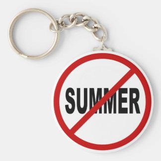 Hate Sunner/No Summer Allowed Sign Statement Keychain