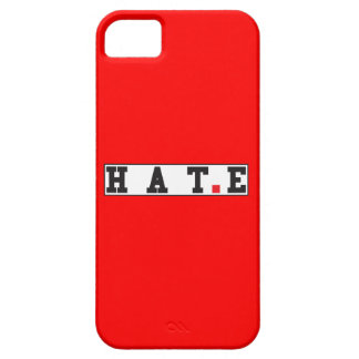 hate text message emotion feeling red dot square iPhone 5 cases