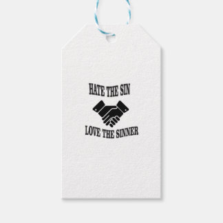 hate the sin love the sinner gift tags