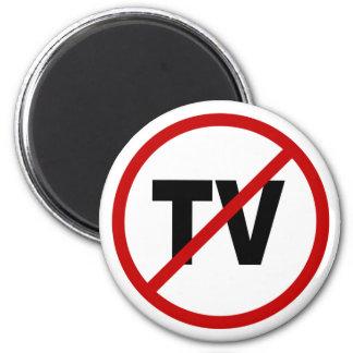 Hate TV /No TV Allowed Sign Statement Magnet