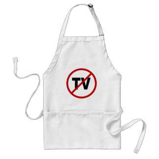 Hate TV /No TV Allowed Sign Statement Standard Apron