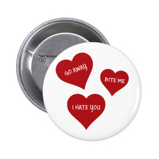 Hate Valentines 2 Inch Round Button