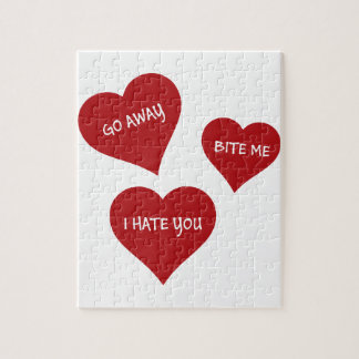 Hate Valentines Jigsaw Puzzle
