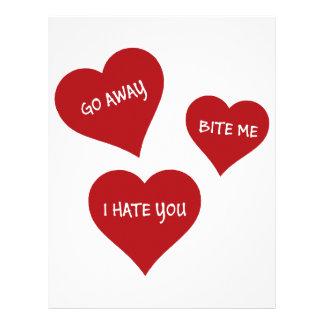 Hate Valentines Letterhead