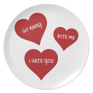 Hate Valentines Plate