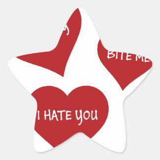 Hate Valentines Star Sticker