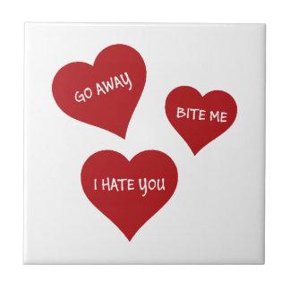 Hate Valentines Tile