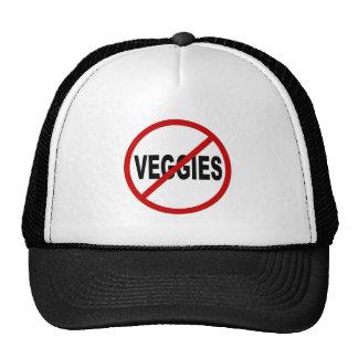Hate Veggies/No Veggies Allowed Sign Statement Trucker Hat