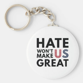 Hate Will Not Make US Great Basic Round Button Keychain