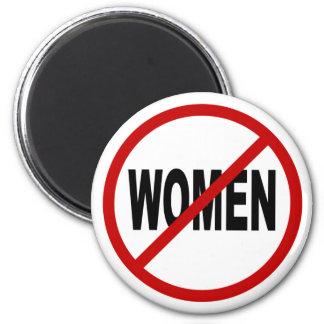 Hate Women/No Women Allowed Sign Statement Magnet
