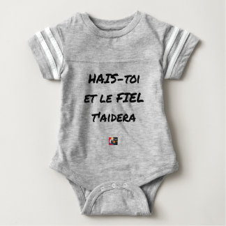 HATE YOURSELF AND GALL WILL HELP You - Word games Baby Bodysuit