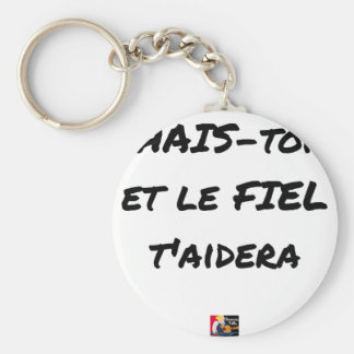 HATE YOURSELF AND GALL WILL HELP You - Word games Keychain
