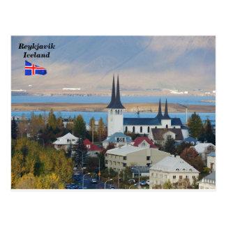 Háteigskirkja, Reykjavik, Iceland. Postcard