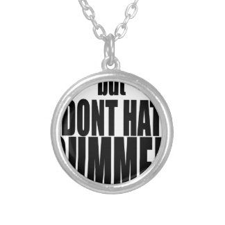 hater summer end vacation flirt romance couple bla silver plated necklace