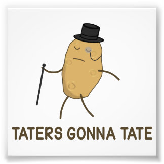 Haters Gonna Hate and Taters Gonna Tate Photographic Print