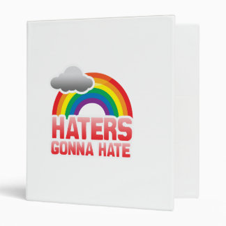 HATERS GONNA HATE 3 RING BINDER