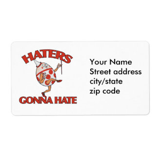 Haters gonna hate personalized shipping label