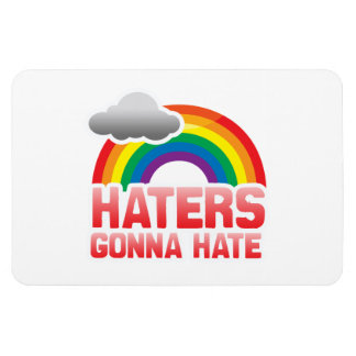 HATERS GONNA HATE RECTANGLE MAGNETS