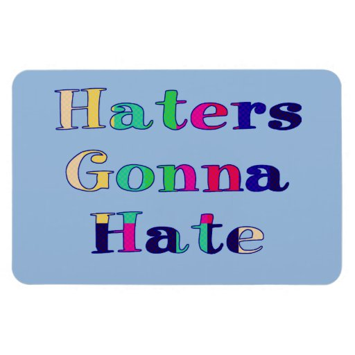 Haters Gonna Hate Vinyl Magnets