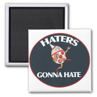 Haters gonna hate square magnet