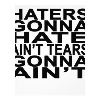 Haters gonna hate T-Shirts.png Letterhead Template