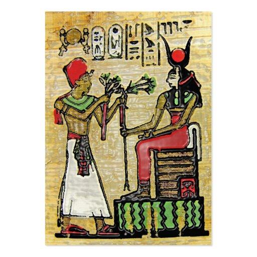 Hathor, Egyptian Goddess, Sycamore Branch on Thron Business Card