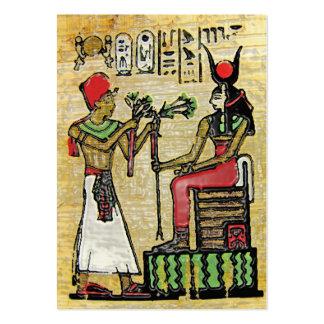 Hathor, Egyptian Goddess, Sycamore Branch on Thron Large Business Card