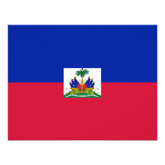Hatian Flag Personalized Invitations