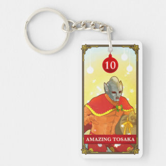 Hatoful Advent calendar 10: Amazing Tosaka Double-Sided Rectangular Acrylic Keychain