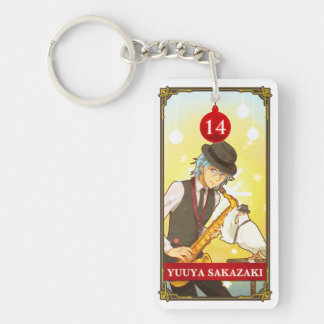 Hatoful Advent calendar 14: Yuuya Sakazaki Double-Sided Rectangular Acrylic Keychain