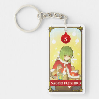 Hatoful Advent calendar 5: Nageki Fujishiro Double-Sided Rectangular Acrylic Keychain