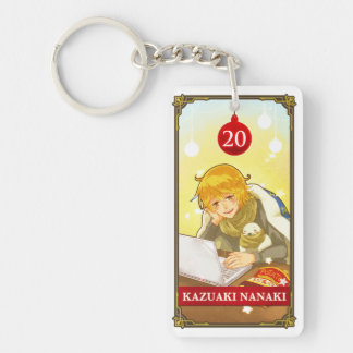 Hatoful Advent Kazuaki kun-Hitori Double-Sided Rectangular Acrylic Keychain