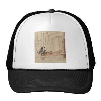 Hatori - Japanese Weaver woodcut print Trucker Hats