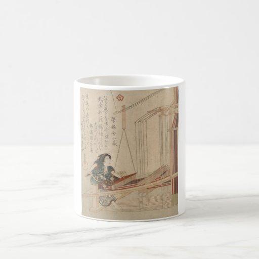 Hatori - Japanese Weaver woodcut print Mug