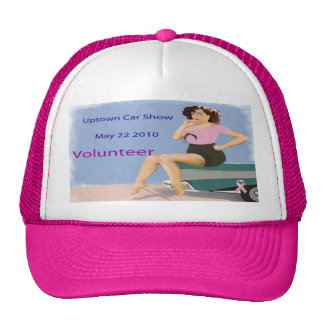 Hats for Volunteers for Uptown Car Show