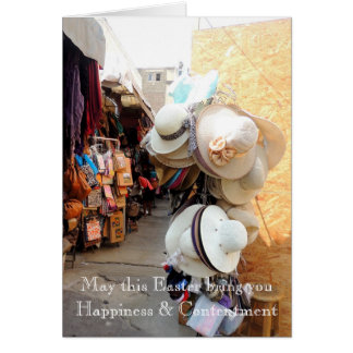 Hats n Bags in a Peruvian Marketplace Card