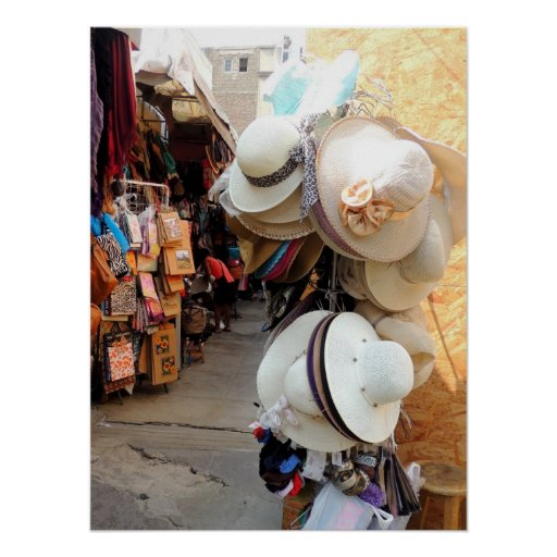 Hats n Bags in the Alley Print