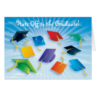 Hats Off to the Graduate! Card