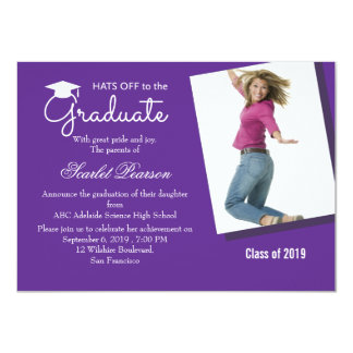 Hats off to the Graduate - Graduation Party Invite
